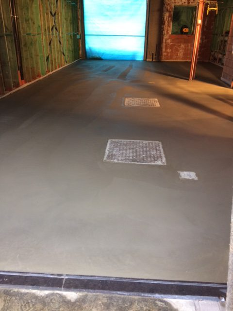 betonvloer in garage
